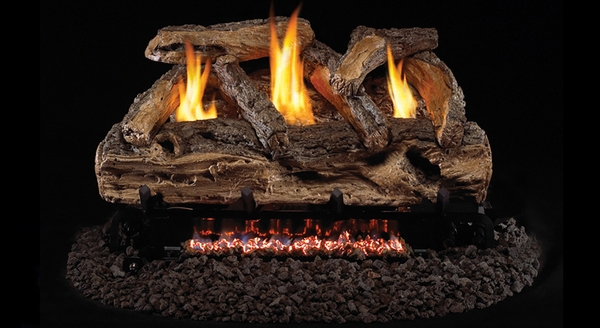 real fyre 20 split oak ventless natural gas logs set with safety pilot kit - Real Fyre Gas Logs
