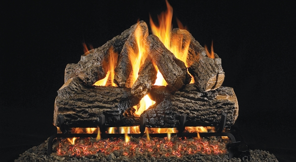 Real Fyre 30 Quot Charred Oak Vented Natural Gas Logs Set