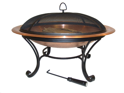 round copper fire pit bowl insert 22 replacement