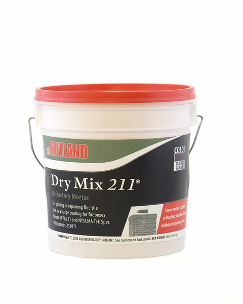 Fire Clay Mortar Mix : Rutland dry refractory mortar mix pound tub
