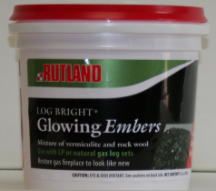 Rutland Log Bright Replacement Glowing Embers For Gas Logs 12 Oz Tub