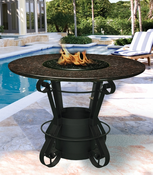 California Outdoor Concepts 1030 Solano Bar Height Fire Pit