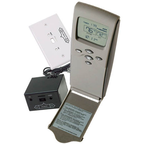 SkyTech 3301 Hand-Held Millivolt Thermostatic Remote Control with LCD Display - For Gas Hearth Appliances with Millivolt Valves or Electronic Spark Ignition Systems Designed for gas hearth appliances that use millivolt valves or electronic spark ignition