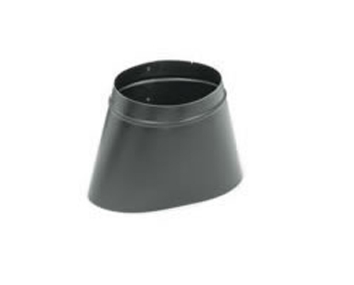 Snap lock inch black steel stovepipe oval to round boot