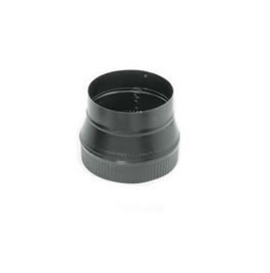 Snap-Lock Black Steel Stovepipe 6-Inch Male to 5-Inch Female Reducer - Lock Black Steel Stovepipe 6-Inch Male To 5-Inch Female Reducer