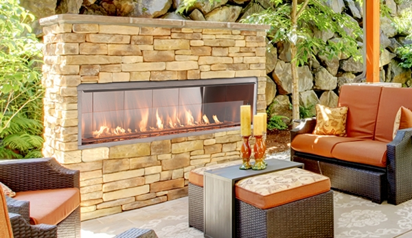 Superior 36 Inch Vent-Free VRE4636ZEN Outdoor Linear Gas Fireplace