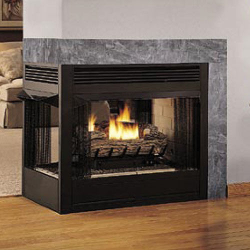 36 Peninsula 3 Sided Firebox Vrt43pfws