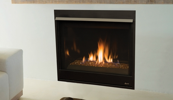 Superior Drc3540 Pro Series 40 Top Rear Vent Fireplace With Fire Glass Electronic Ignition
