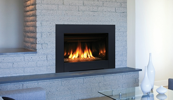 Superior dri3030c direct vent contemporary gas insert with for Contemporary fireplace insert