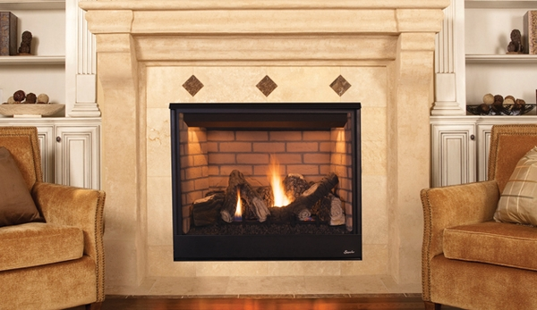 superior drt3535 pro series 35 quot top rear vent fireplace with aged oak logs electronic ignition