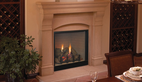 Superior Drt4036 Traditional 36 Direct Vent Fireplace With Fiber Logs Electronic Ignition