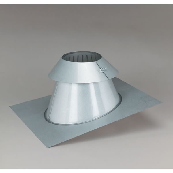Supervent All Fuel Low Pitch Roof Flashing With Storm