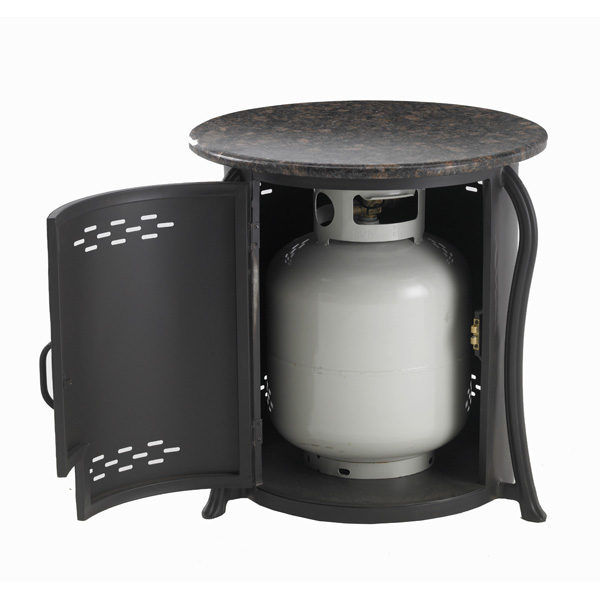 Propane Tank Cover with Granite Top
