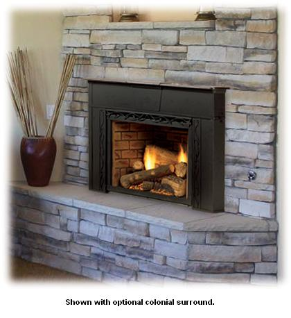 Topaz Direct Vent Insert System With Tavern Brown Firebrick 30ildvnvsb