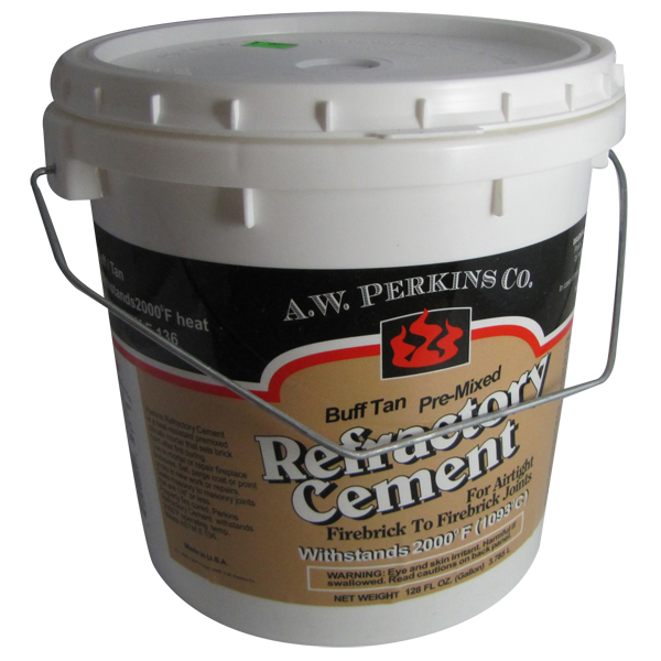 High Temperature Mortar : Tub of premixed buff finish high temperature refractory cement