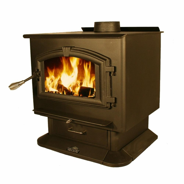 US Stove Country Hearth EPA-Certified Wood Burning Stove with Blower - Stove Country Hearth EPA-Certified Wood Burning Stove With Blower