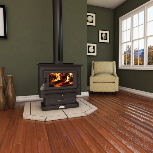US Stove Medium EPA-Certified Wood-Burning Stove - Stove Medium EPA-Certified Wood-Burning Stove