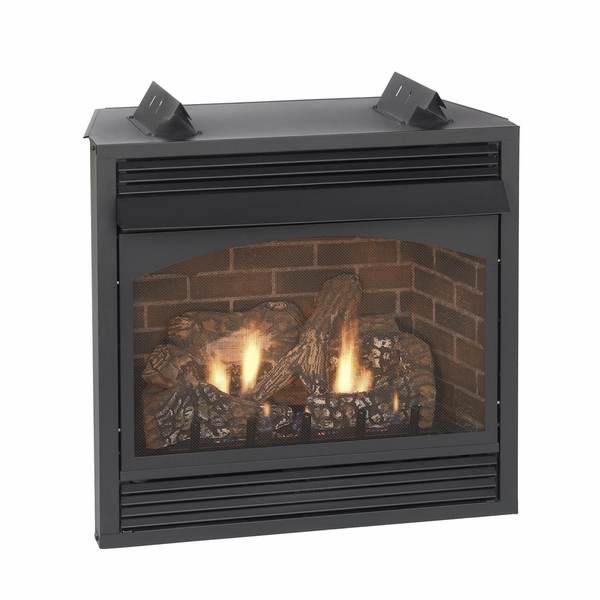 empire vail premium vent free natural gas fireplace with blower 32 quot