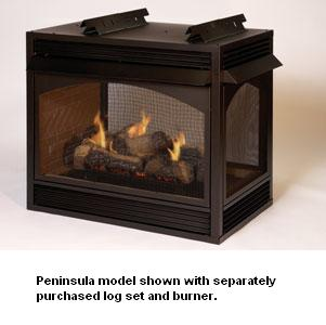 Empire Vail Premium Vent-Free Propane See-Thru Fireplace - 36