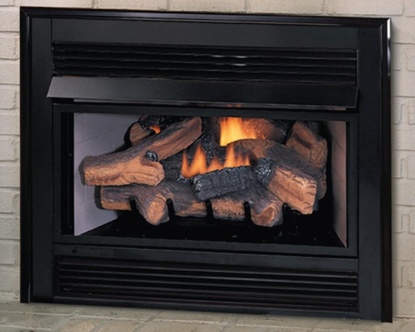 Vantage Hearth Propane Vent Free Fireplace Insert With Remote Ready Golden Oak Logs And