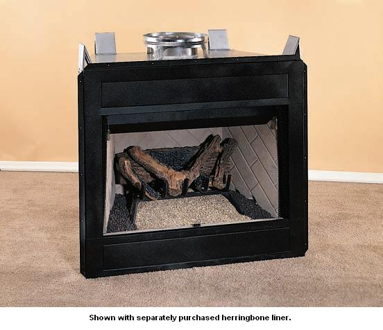 Vantage Hearth Vp3241 Value Series Smooth Face B Vent Gas Fireplace With Refractory Fiber Logs
