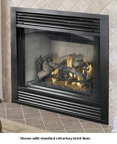 Vantage Hearth Vvc42 Performance Series Direct Vent Natural Gas Fireplace With Ceramic Logs And