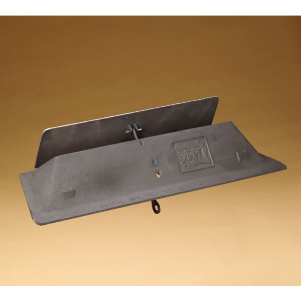 36 Inch Cast Iron Throat-Style Fireplace Damper