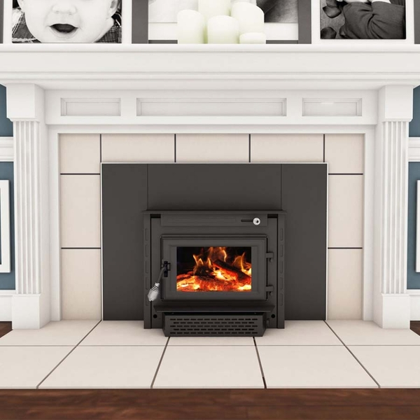 Wood Burning Colonial Fireplace Insert With Blower