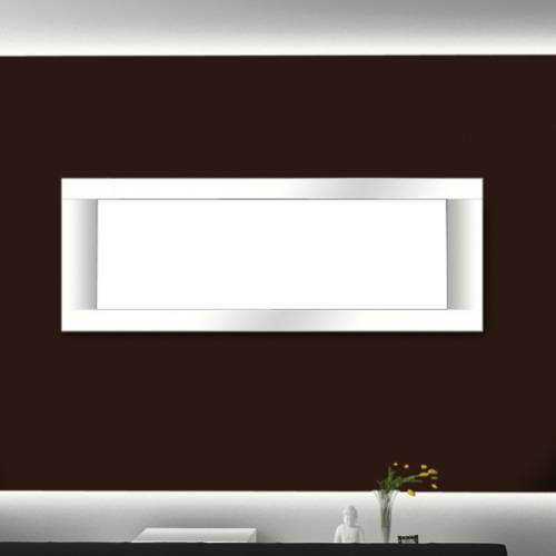 White Finish Surround For Napoleon Lhd50 Linear Gas Fireplace