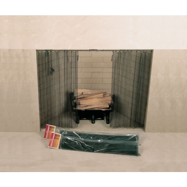 Woodfield Hanging Fireplace Spark Screen - 48 in. x 24-in. - 61082 Protect your family