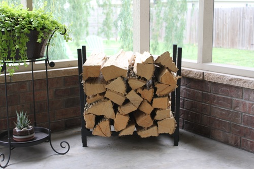 Woodhaven Fireside Collection 2\' x 2\' Indoor Firewood Rack - 24WRC