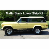 1975-1978 Cherokee Chief SJ Matte Black Lower Stripe Kit
