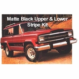 1979-1980 Cherokee Chief SJ Matte Black Upper & Lower Stripe Kit