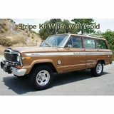 1979-1980 Jeep Cherokee S Stripe Kit White with Gold