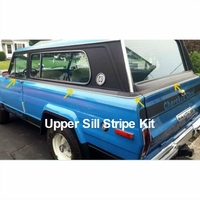 1975-1978 Cherokee Chief SJ Matte Black Upper Sill Stripe Kit