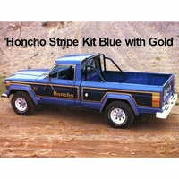 1978 Jeep J10 Honcho Truck Blue & Gold Stripe Kit