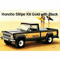 1976-1977 Jeep J10 Honcho Truck Gold & Black Stripe Kit