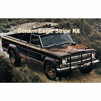 1977-1979 Jeep Golden Eagle J10 Truck Gold & Orange Decal Stripe Kit