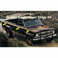 1977-1979 Jeep Golden Eagle J10 Truck 4-Color Upper Stripes
