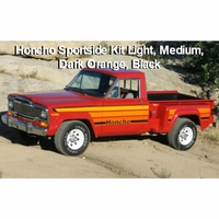 1979-1980 Jeep J10 Honcho Sportside Truck Orange Stripe Kit (4-color)