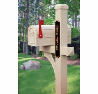 Residential Deluxe Aluminum Curbside Mailbox and Post