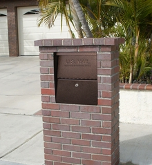 High Security Locking Mailbox In Used Brick Column