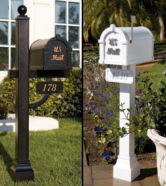 Keystone Gaines Residential Curbside Mailbox and Post