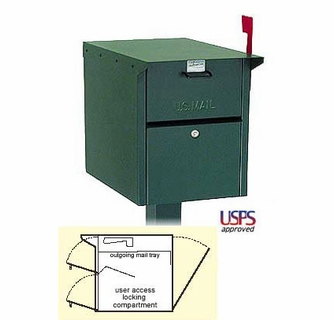 open residential mailboxes. Large Front And Rear Opening Locking Mailbox Post Open Residential Mailboxes