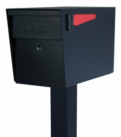 Mail Boss Locking Mailbox with Post Black