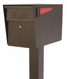 Mail Boss Locking Mailbox with Post Bronze