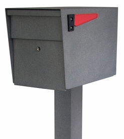 Mail Boss Locking Mailbox with Post Granite