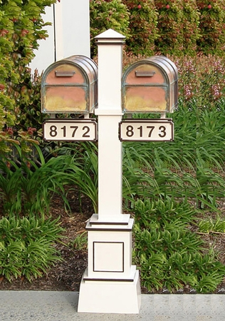 Streetscape Double Craftsman Mailbox and Post
