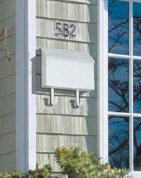 Traditional Wallmount Mailbox With Magazine Hooks and Locking Option