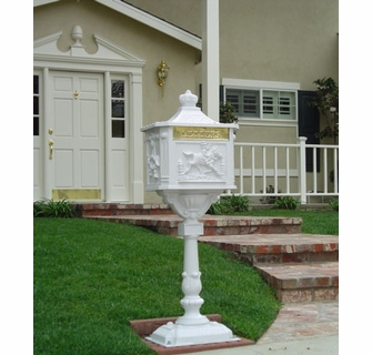 Victorian Pedestal Residential Mailbox Free Shipping